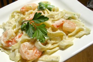 Shrimp Fettucini Alfredo for two