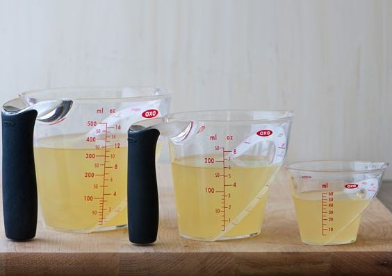 Angled Measuring Cups.