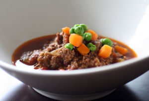 Chile con Carne with Peas & Carrots
