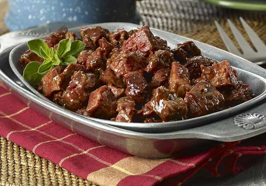 Beef Burnt Ends in BBQ Sauce