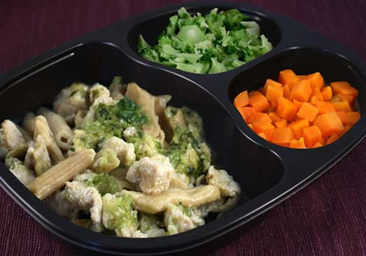 Diced Chicken with Rotini Pasta